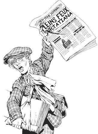 vendeur de journaux presse écrite